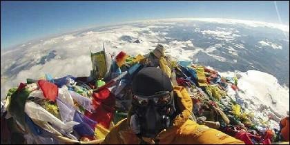 Desde lo alto del Everest.