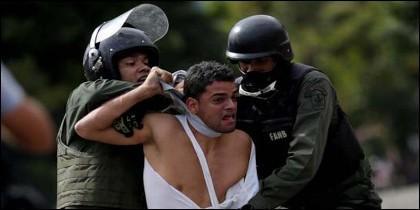 La represión contra los opositores democrácticos en la Venezuela chavista.