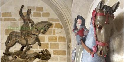 El antes y el después de la restauración del San Jorge de Estella