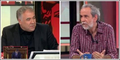 Antonio García Ferreras y Willy Toledo.