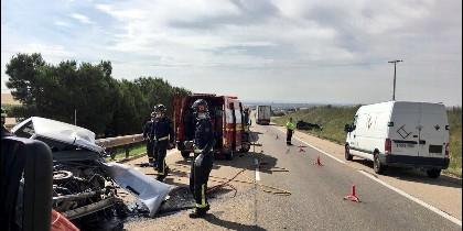 Imagen del accidente. Bomberos Provincia Valladolid
