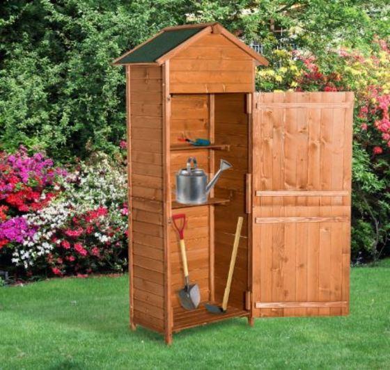 Casetas de madera para jard n desde 85 ocio y cultura for Casetas para guardar herramientas de jardin