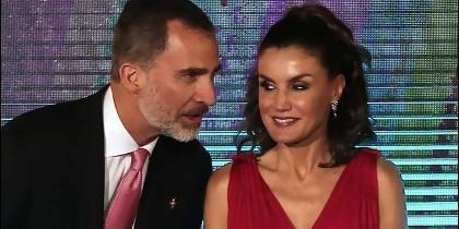 Los reyes Felipe y Letizia en la entrega de premios de la Fundación Princesa de Girona