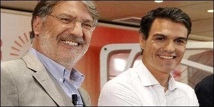 Pedro Sánchez y Pérez Tapias (PSOE).