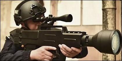Blaster: el arma láser.