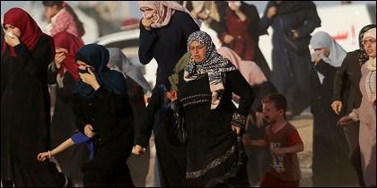 Mujeres en Gaza