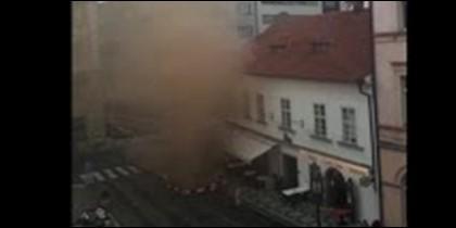 Escape de gas en Praga
