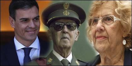 Sánchez, Carmena y Franco