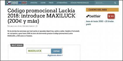 Codigo-de-bono.es: Luckia
