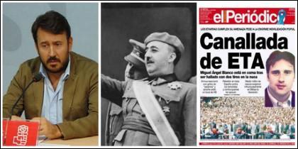 Rafael Lemus, Franco y portada del asesinato a manos de ETA de Miguel Ángel Blanco.