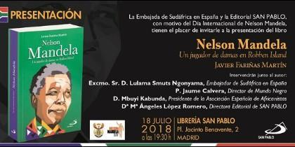 Javier Fariñas presenta su libro sobre Nelson Mandela