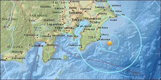 Un sismo de magnitud 5,9 se registra cerca de Tokio