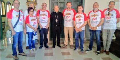 Audiencia del obispo de Lérida con miembros de la plataforma 'Sijena Sí'