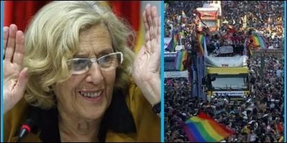 Manuela Carmena y el desfile del Orgullo Gay