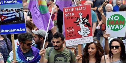 Protestas contra Trump y la OTAN