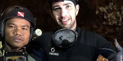 Fernando Raigal, el buzo español que colabora en el rescate en Tailandia.