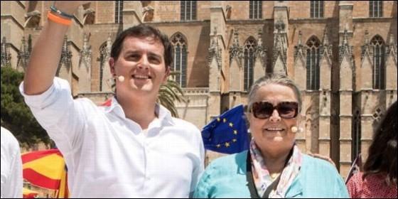 Albert Rivera y Manuela de la Vega, en Palma