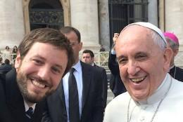 Juan de la Torre, con el Papa