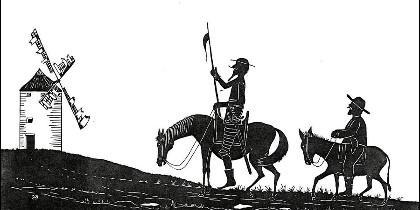Miguel de Cervantes y el Quijote.