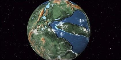 La Tierra hace 300 millones de años.