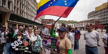 Protesta por la crisis en Venezuela