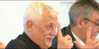 Arturo Sosa, sj, este miércoles en un encuentro en Bilbao