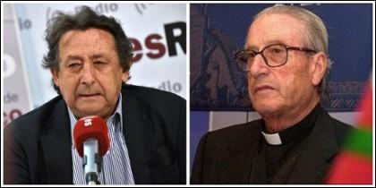 Alfonso Ussía y Monseñor Setién.