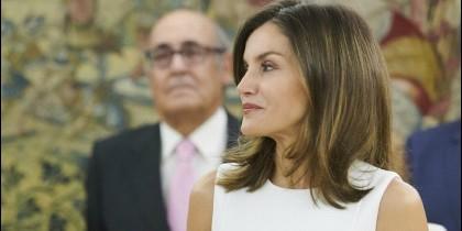 La Reina, en un acto en La Zarzuela.