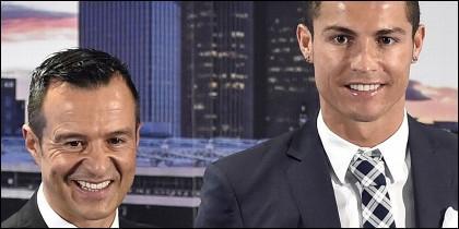 Mendes y Cristiano Ronaldo