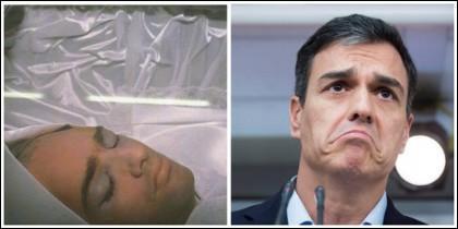 Miguel Ángel Blanco, en una imagen inédita, y el 'alquilado' Pedro Sánchez.