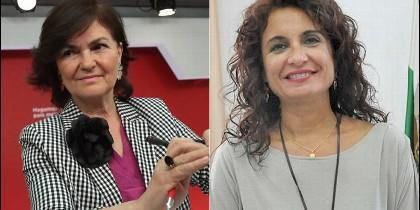 Carmen Calvo y María Jesús Montero, en el Gobierno de Pedro Sánchez.