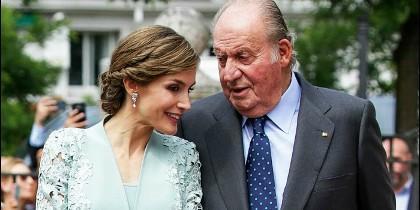 La reina Letizia y don Juan Carlos