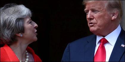Trump y May