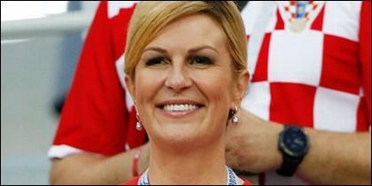 La presidenta croata