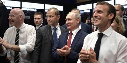 Presidentes de Francia, Rusia y Croacia