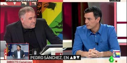 Pedro Sánchez, en una intervención con Antonio García Ferreras.