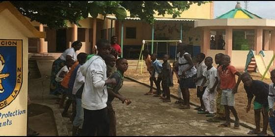 Centro de acogida de Mensajeros de la Paz en Benin