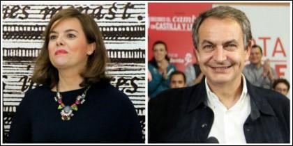Soraya Sáenz de Santamaría y José Luis Rodríguez Zapatero.