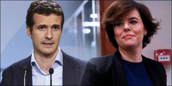 PabloCasado y Soraya Sáenz de Santamaría (PP).