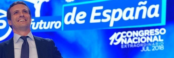 Pablo Casado, nuevo presidente del Partido Popular.