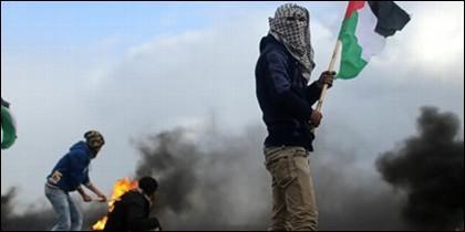 Palestinos en Gaza