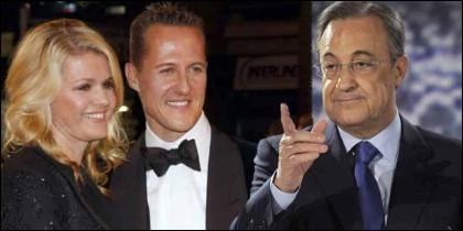 Corinna Schumacher, esposa del siete veces campeón del Mundial de Fórmula Uno Michael Schumacher, y Florentino Pérez.