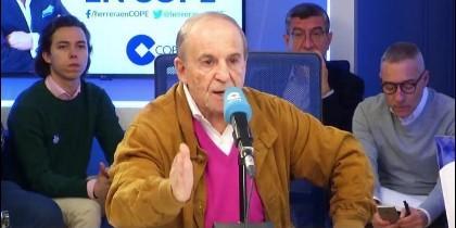 José María García durante una intervención en COPE.