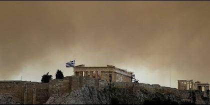 Incendio en Grecia