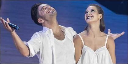 David Bustamante y Yana Olina en 'Bailando con las estrellas'.