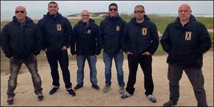 Miembros de la empresa de seguridad Desokupa.