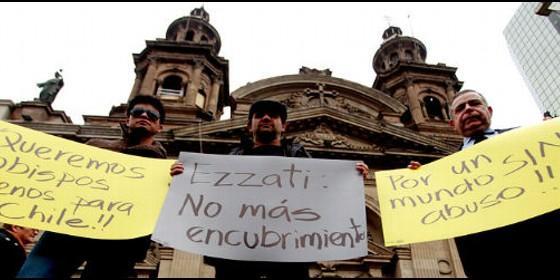 Protesta contra los abusos del clero en Chile