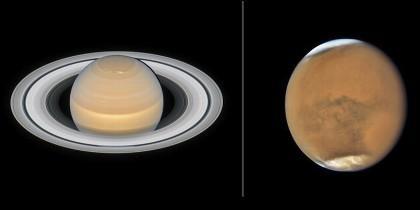 Marte y Saturno