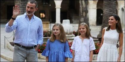 El posado de los Reyes y sus hijas en Mallorca