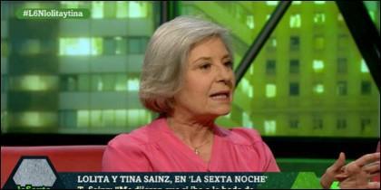 La actriz Tina Sainz.